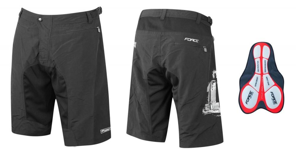 Cyklistické kalhoty krátké FORCE MTB-11 s odnímatelnou vložkou ... ed82527e2e